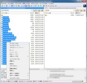 新しいサーバーに古いサーバーからダウンロードしたファイル一式をアップロード